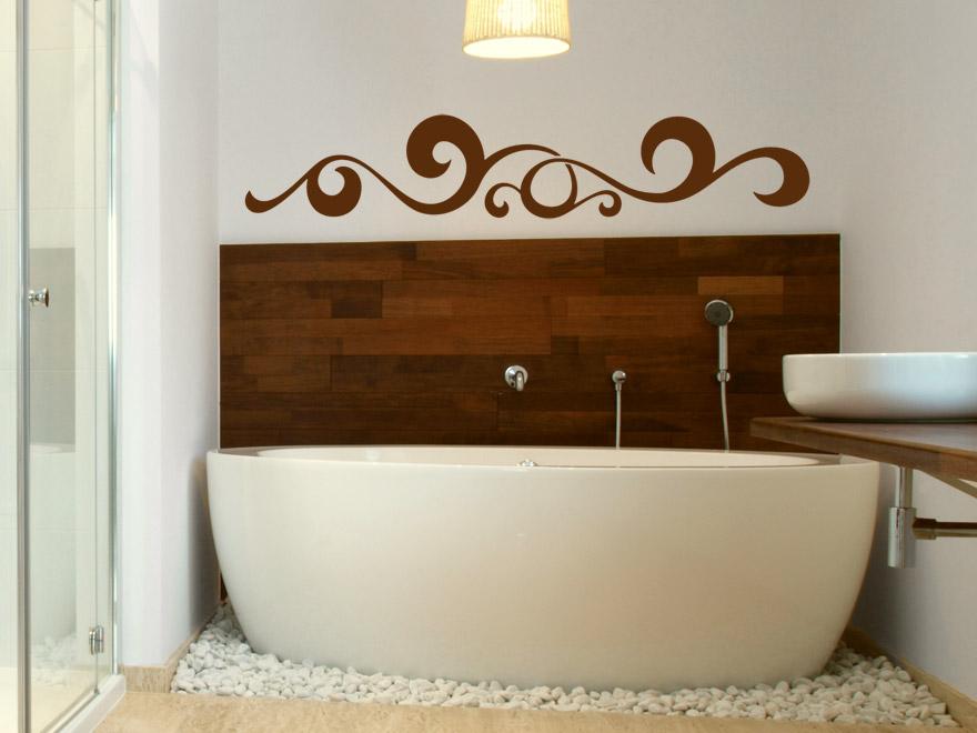 wandtattoo wellenornament wandtattoos ornament wellen bad. Black Bedroom Furniture Sets. Home Design Ideas