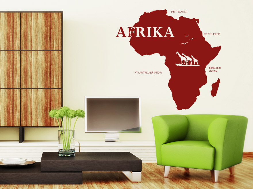 wandtattoo afrika von. Black Bedroom Furniture Sets. Home Design Ideas