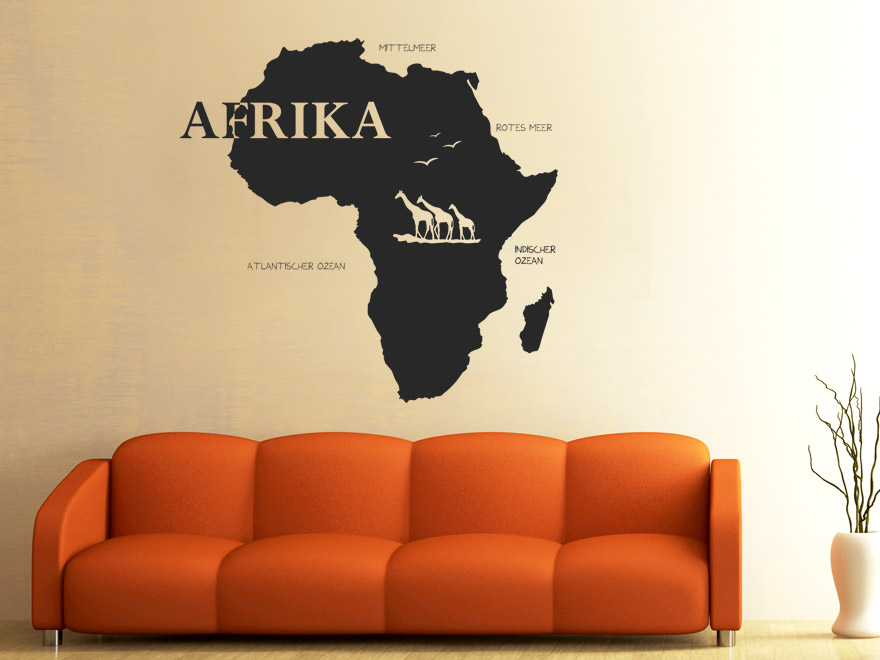 Wandtattoo afrika von for Wandtattoo afrika