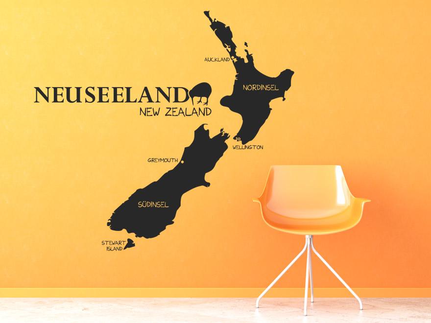 Weltkarte Als Wandtattoo : wandtattoo neuseeland von ~ Whattoseeinmadrid.com Haus und Dekorationen