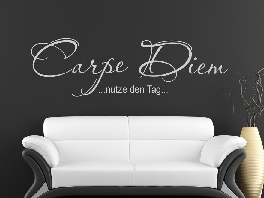 Amazing Carpe Diem Wandtattoo With Wandtattoo Sprche Wohnzimmer
