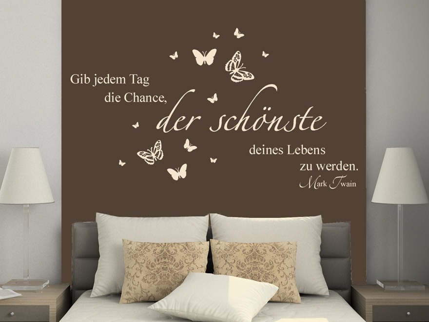 motivierendes wandtattoo zitat von. Black Bedroom Furniture Sets. Home Design Ideas