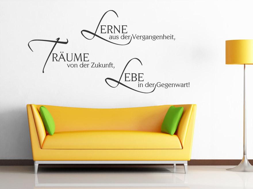 Motivierender Wandtattoo Spruch Lerne aus der ...