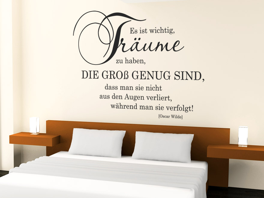 schlafzimmer wandtattoo verschiedene ideen f r die raumgestaltung inspiration. Black Bedroom Furniture Sets. Home Design Ideas
