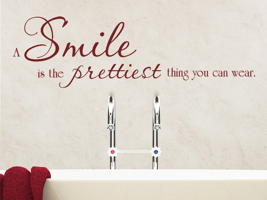 Wandtattoo A Smile Is The Prettiest Thing You Can Wear