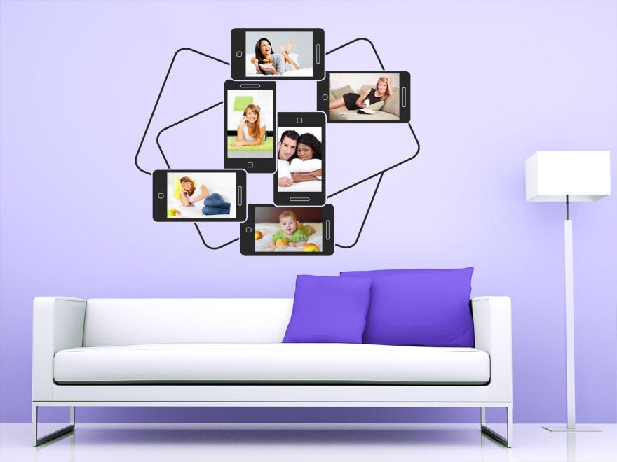fotorahmen wandtattoo moderner bilderrahmen von. Black Bedroom Furniture Sets. Home Design Ideas