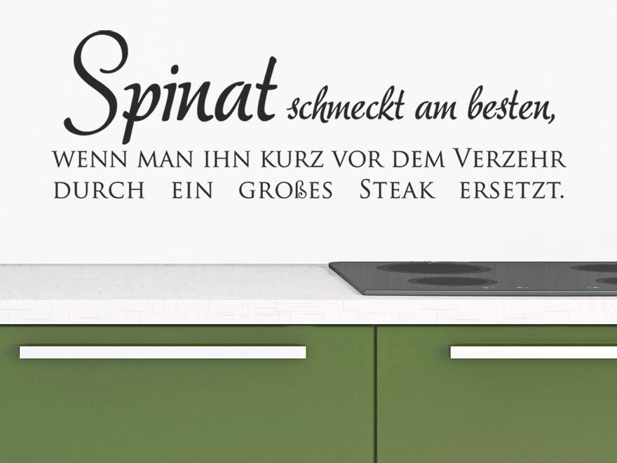 Wandtattoo Lustiger Spruch Spinat Schmeckt Am Besten Wenn Man Ihn