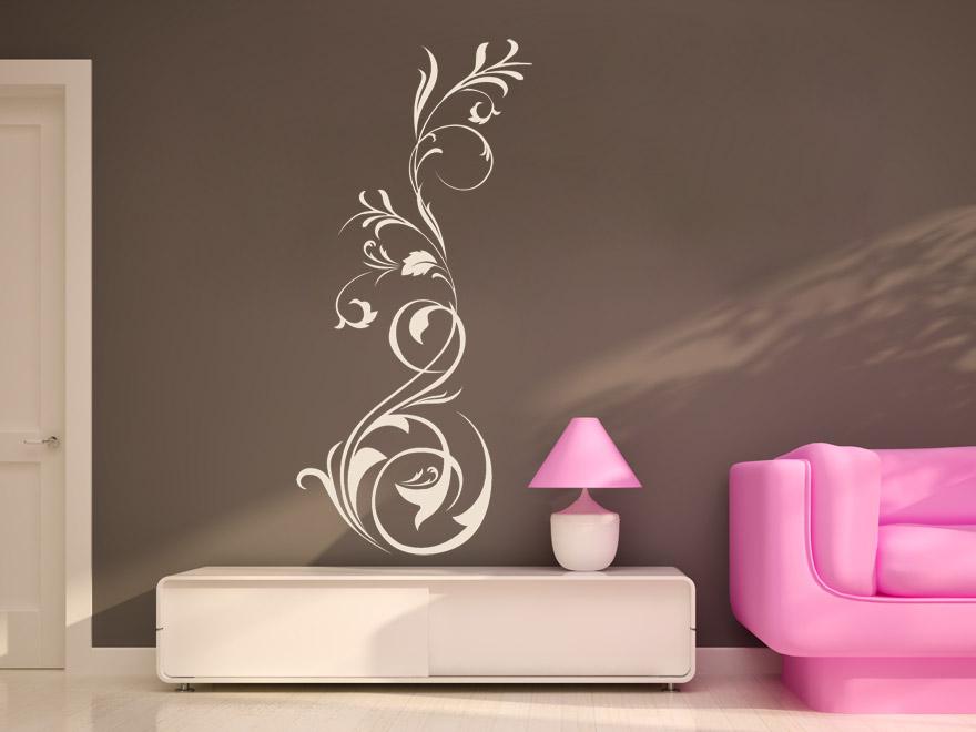 wandtattoo floral ornament reuniecollegenoetsele. Black Bedroom Furniture Sets. Home Design Ideas