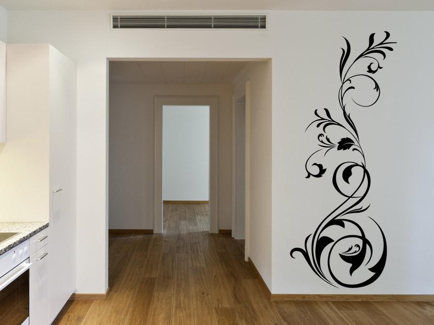 wandtattoo florales ornament wandtattoos floral von. Black Bedroom Furniture Sets. Home Design Ideas