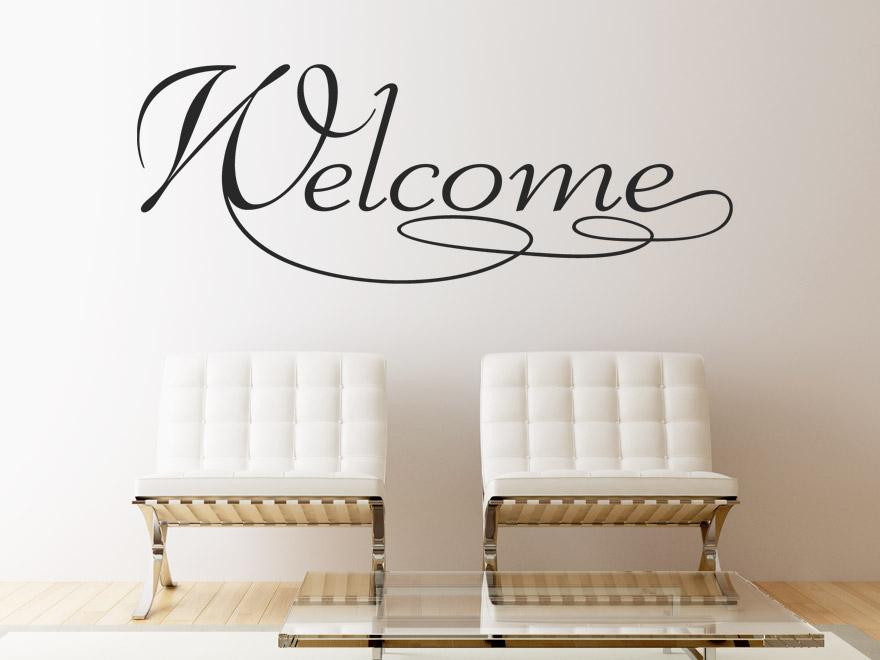 willkommen wandtattoo welcome von. Black Bedroom Furniture Sets. Home Design Ideas