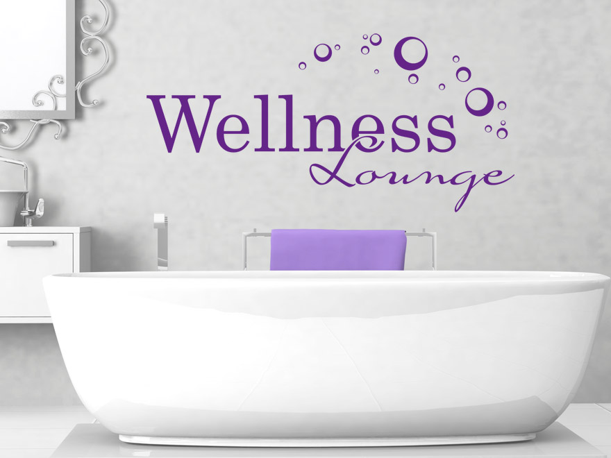 Wellness wandtattoo wellness lounge von - Wandtattoos furs bad ...