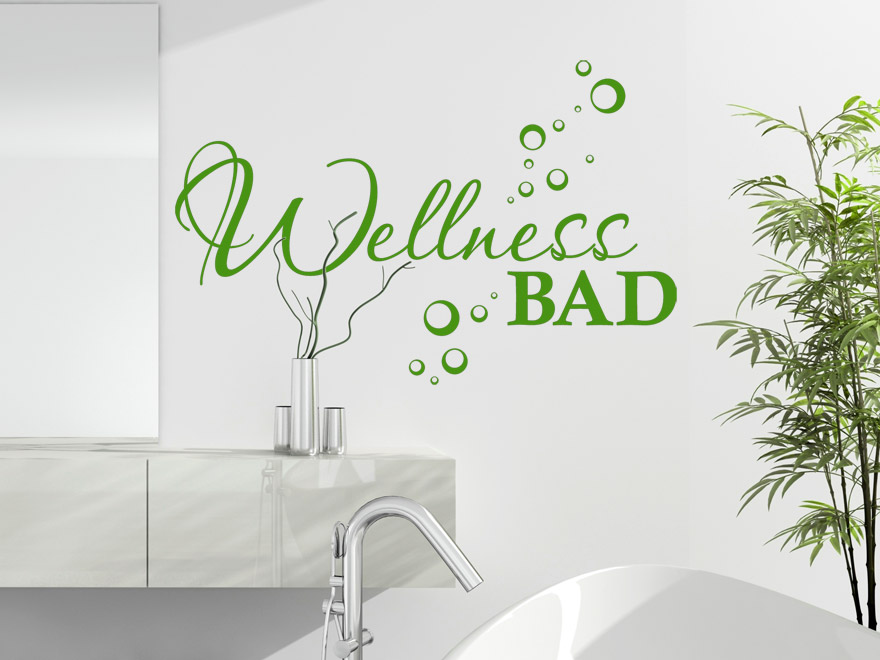 Wellness wandtattoo wellness bad von - Wandtattoos furs bad ...