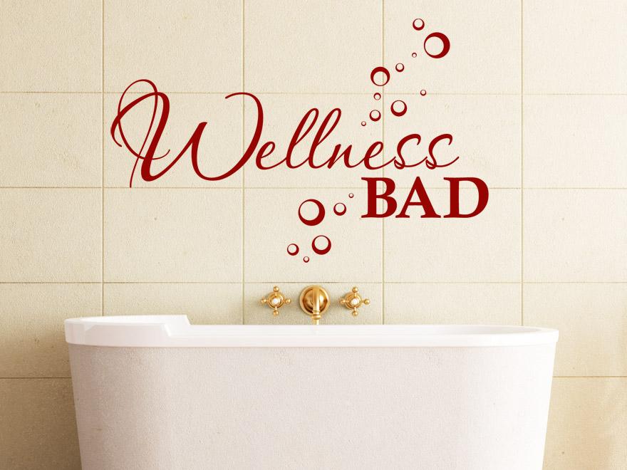 wellness wandtattoo wellness bad von. Black Bedroom Furniture Sets. Home Design Ideas