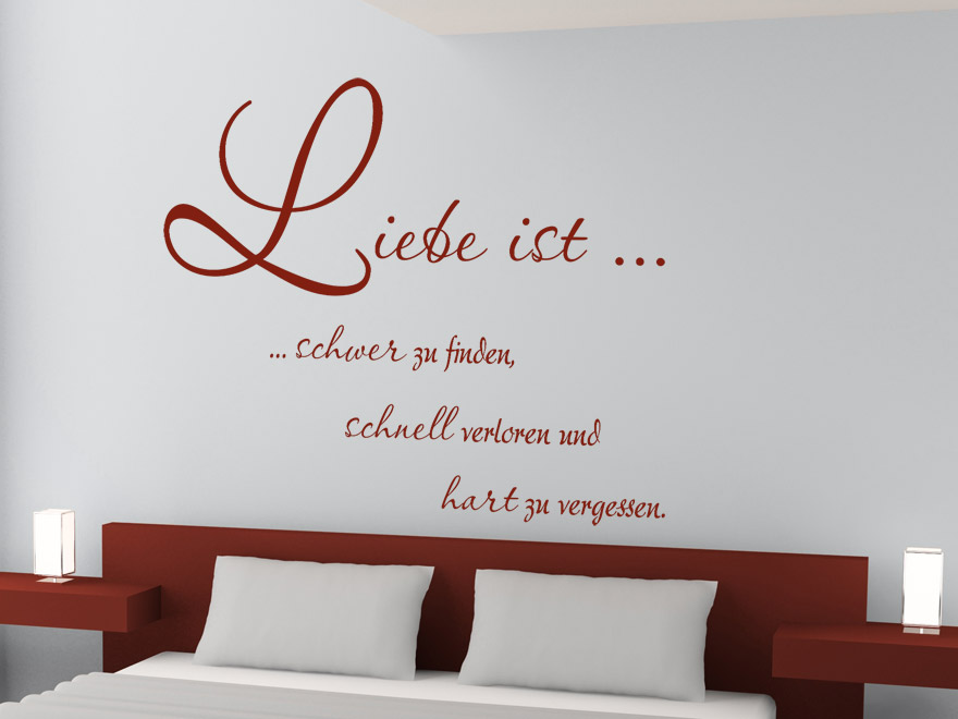 wandtattoo liebe ist wandspruch von. Black Bedroom Furniture Sets. Home Design Ideas