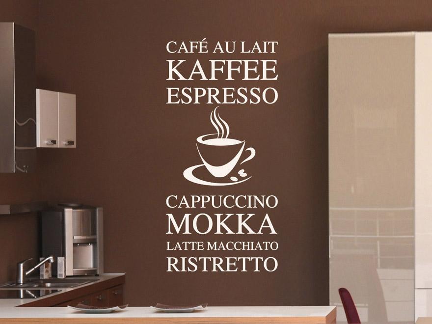 Wandtattoo Küche Kaffee mit gut stil für ihr haus ideen