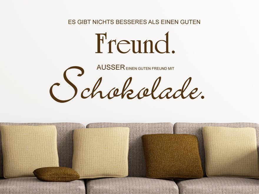 wandtattoo es gibt nichts besseres als einen guten freund au er einen guten freund mit. Black Bedroom Furniture Sets. Home Design Ideas