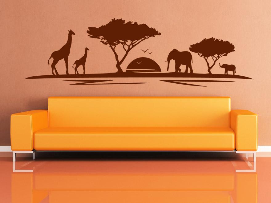 savannen wandtattoo afrikanische landschaft von. Black Bedroom Furniture Sets. Home Design Ideas