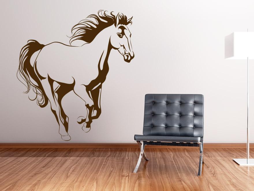 tier wandtattoo galoppierendes pferd von On wandtattoo pferd