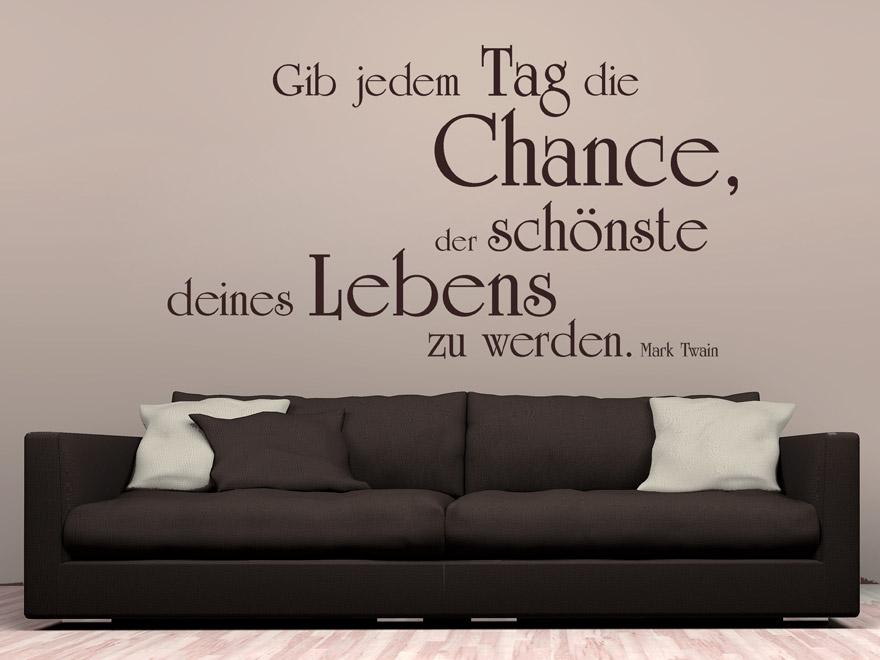 Modernes Wandtattoo Zitat Der Schonste Tag Von Wohnzimmer Modern