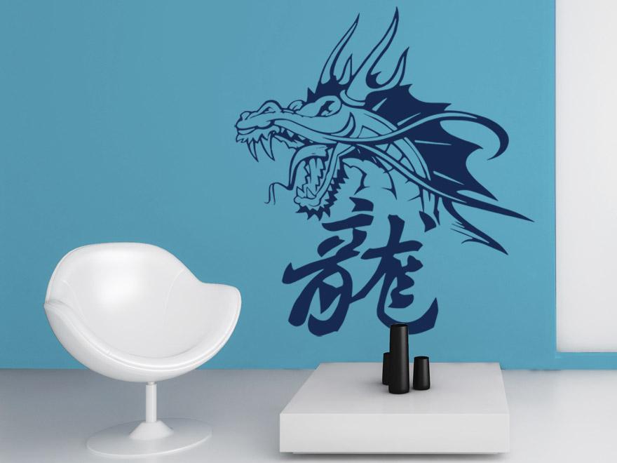 Asiatische Wandtattoos wandtattoo chinesisch chinesische zeichen als wandtattoos