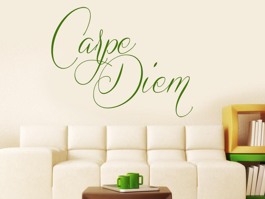 wandtattoo carpe diem von. Black Bedroom Furniture Sets. Home Design Ideas