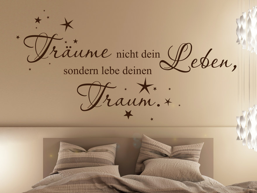 dekoratives wandtattoo tr ume nicht von. Black Bedroom Furniture Sets. Home Design Ideas