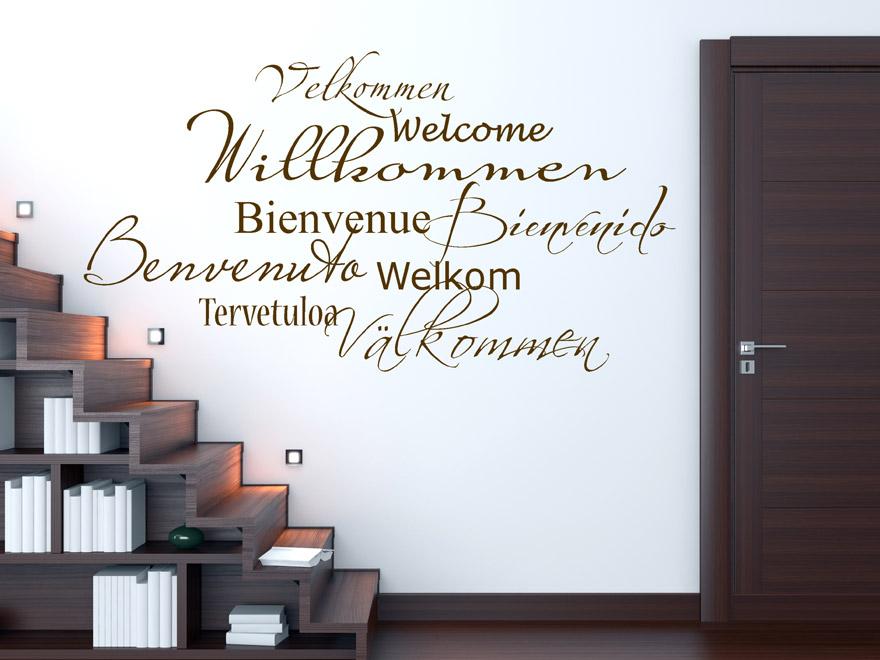 internationales willkommen wandtattoo von. Black Bedroom Furniture Sets. Home Design Ideas