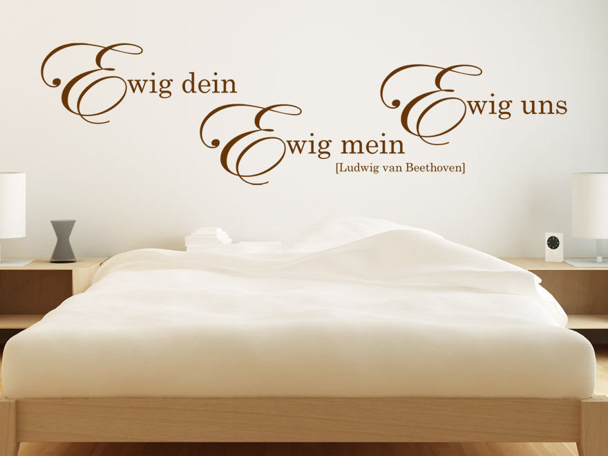 wandtattoo ewig dein zitat ludwig van beethoven von. Black Bedroom Furniture Sets. Home Design Ideas