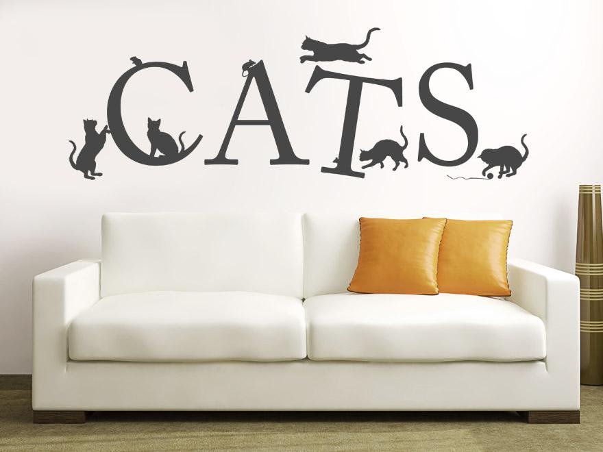 Katzen Wandtattoo Cats Englisch Von