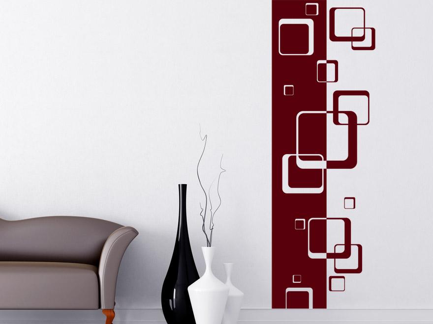 Banner retro quadrate wandbanner von - Wandgestaltung rot ...