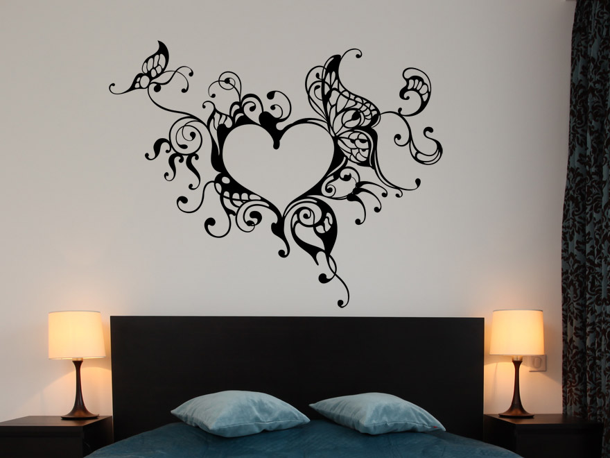 wandtattoo verschn rkeltest herzornament wandtattoos herz. Black Bedroom Furniture Sets. Home Design Ideas