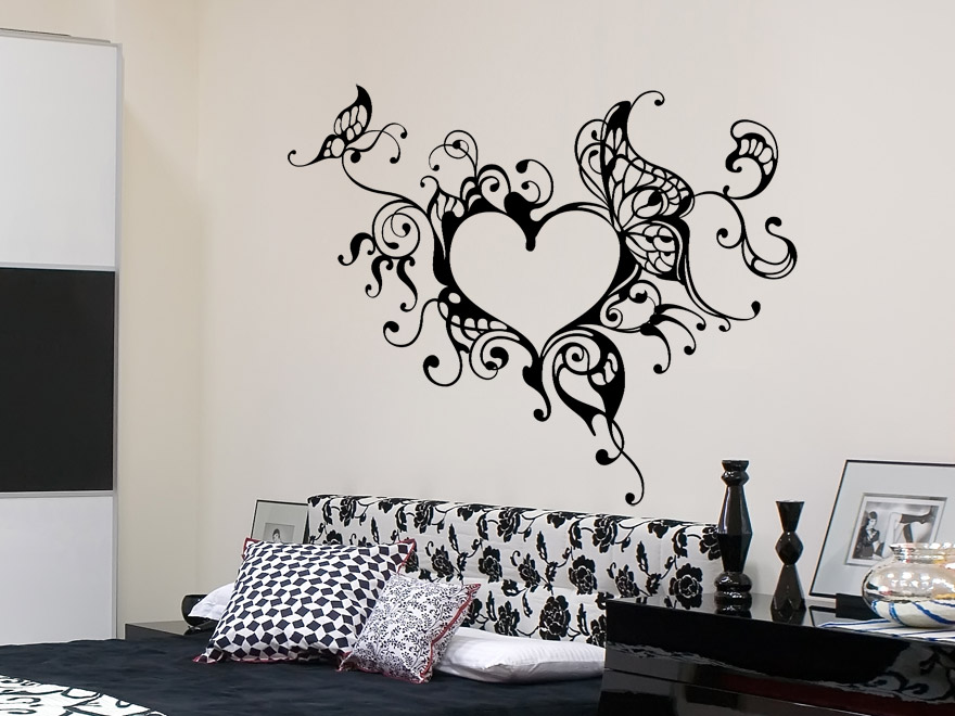 wandtattoo verschn rkeltest herzornament wandtattoos herz schn rkel von. Black Bedroom Furniture Sets. Home Design Ideas