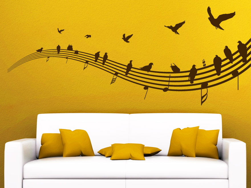 musik wandtattoo v gel auf notenlinien von. Black Bedroom Furniture Sets. Home Design Ideas