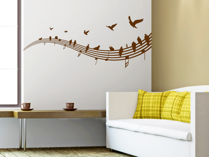 musik wandtattoo v gel auf notenlinien von. Black Bedroom Furniture Sets. Home Design Ideas