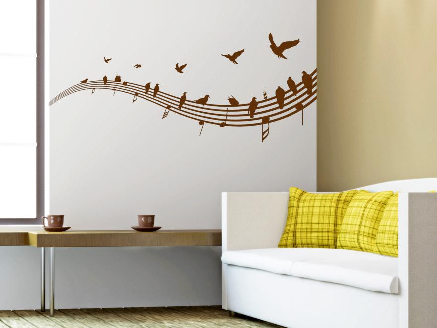 wandtattoo noten notenschlssel partitur notenzeile 937. Black Bedroom Furniture Sets. Home Design Ideas