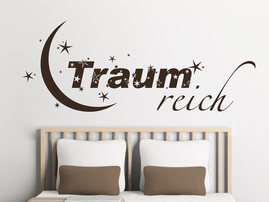verspieltes wandtattoo traumreich von. Black Bedroom Furniture Sets. Home Design Ideas