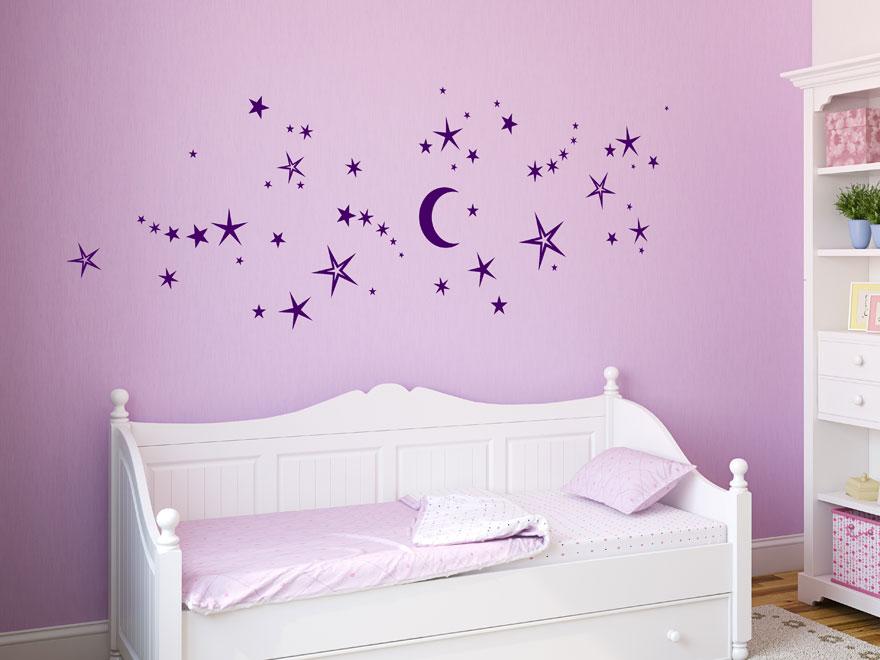 Stunning Wandtattoo Mond Und Sterne Photos - Kosherelsalvador.com ...