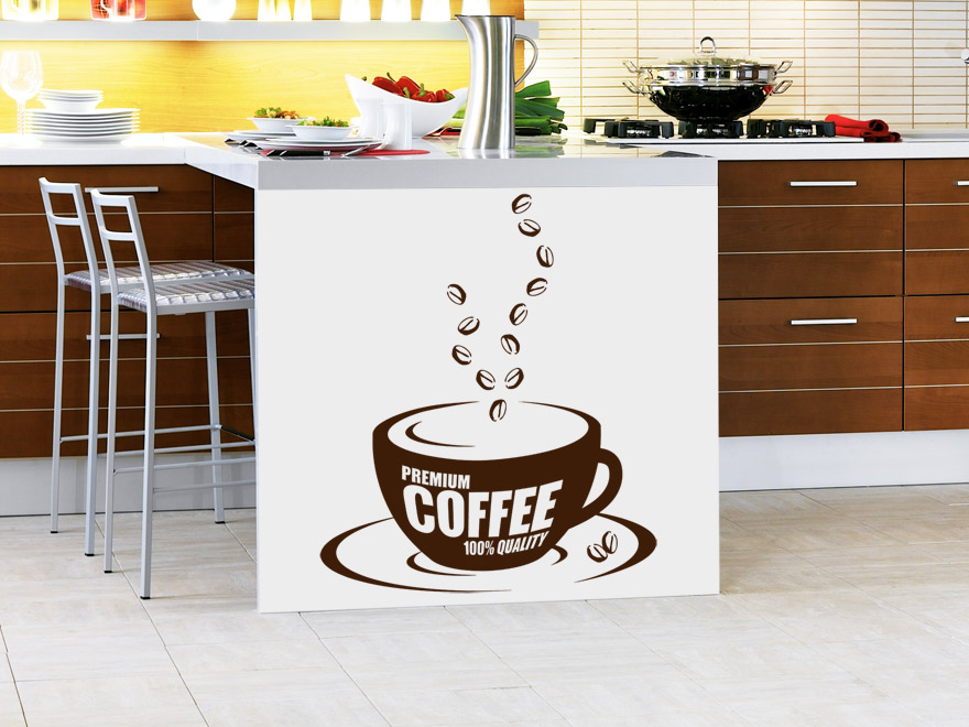 kaffee wandtattoo premium coffee von. Black Bedroom Furniture Sets. Home Design Ideas