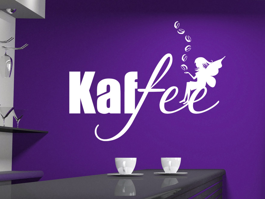 kaffee wandtattoo kaffee zauber mit fee von. Black Bedroom Furniture Sets. Home Design Ideas