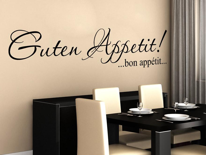 guten appetit wandtattoo bon appétit von wandtattoo.net - Wandtattoo Küche Guten Appetit