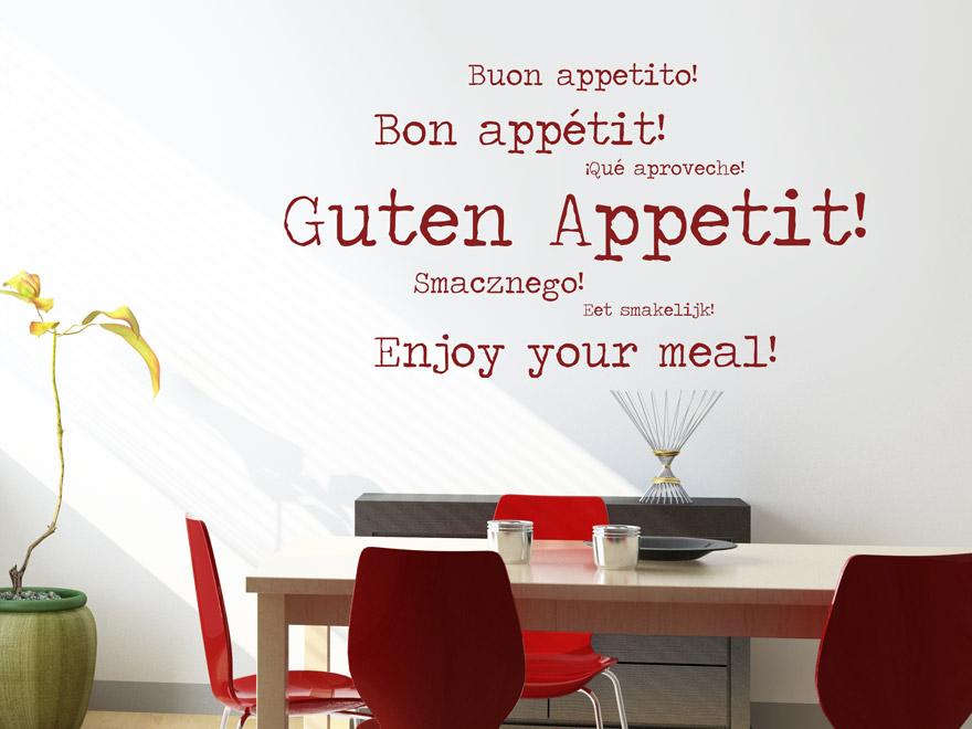 ... Modernes Guten Appetit Begriffe Wandtattoo Als Küchendekoration