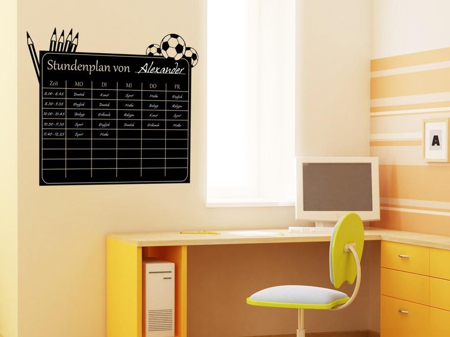 tafelfolie stundenplan jungen tafelfolien von. Black Bedroom Furniture Sets. Home Design Ideas