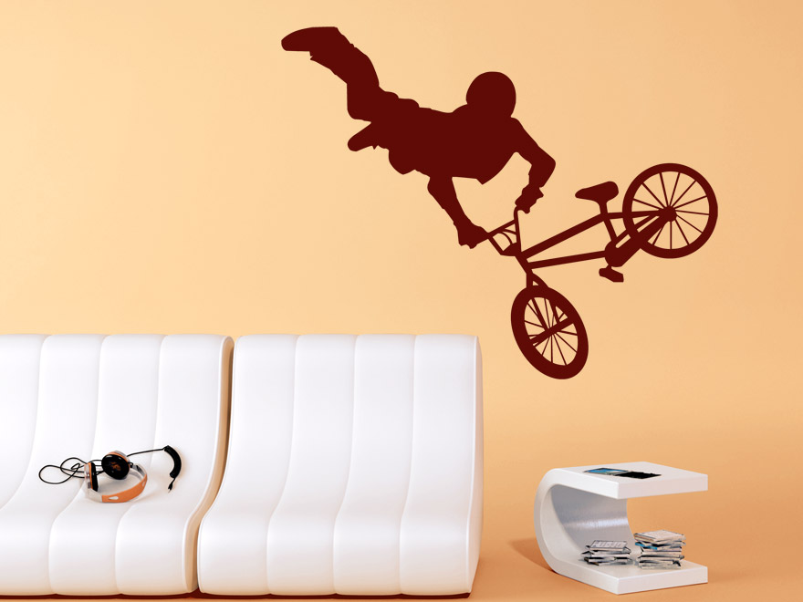 cooles wandtattoo bmx freestyle von. Black Bedroom Furniture Sets. Home Design Ideas
