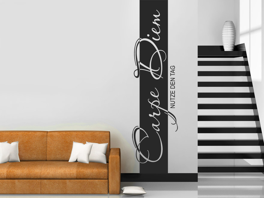 banner carpe diem wandbanner von. Black Bedroom Furniture Sets. Home Design Ideas