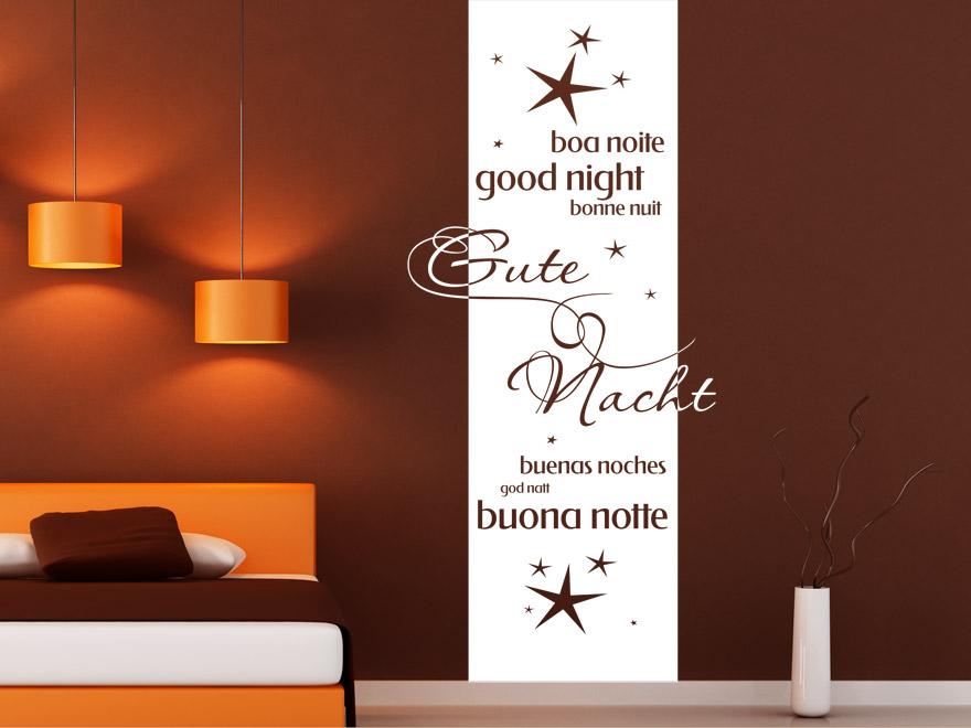 Banner gute nacht wandbanner von for Beeindruckend wand farblich gestalten