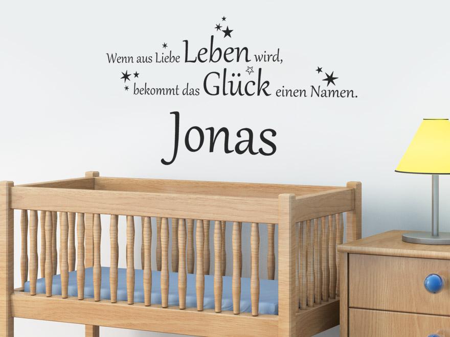 Spruch Wandtattoo Das Gluck Im Babyzimmer
