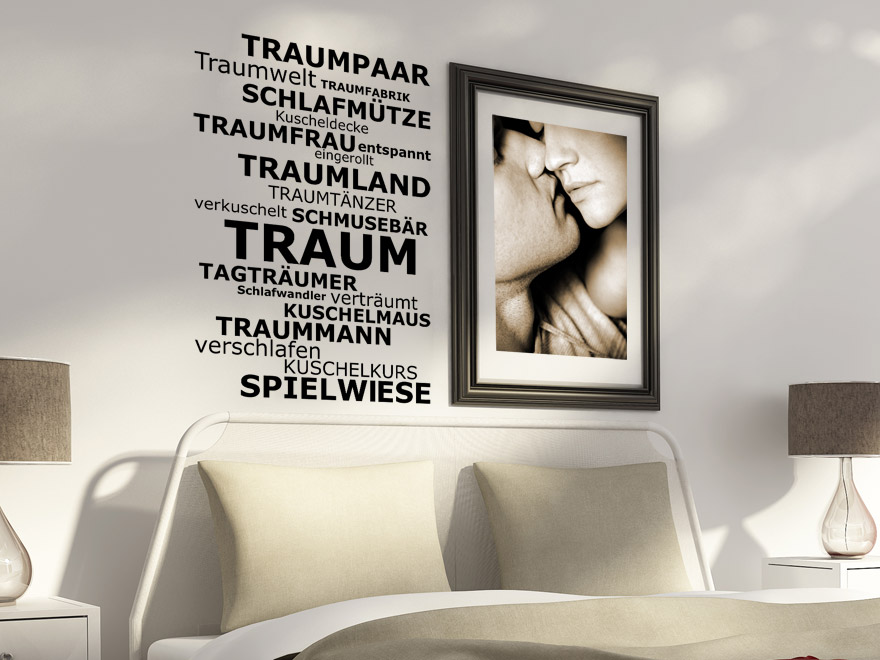 wandtattoo f rs schlafzimmer traumhafte wandtattoos im schlafzimmer. Black Bedroom Furniture Sets. Home Design Ideas