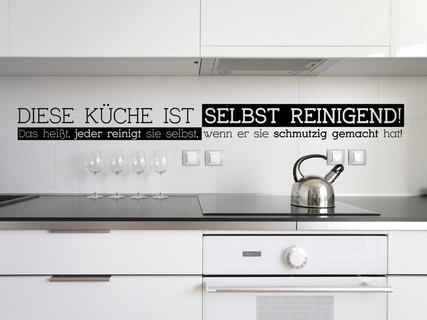 Wandtatoos für die küche  Lustiges Küchen Wandtattoo Diese Küche ... von Wandtattoo.net