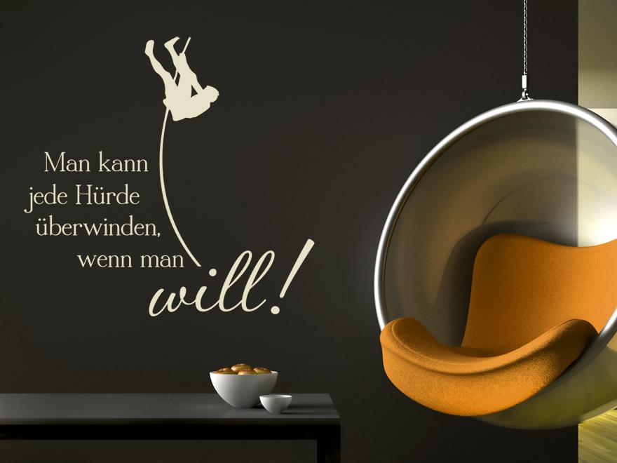 wandtattoo spruch man kann jede h rde sprichwort von. Black Bedroom Furniture Sets. Home Design Ideas