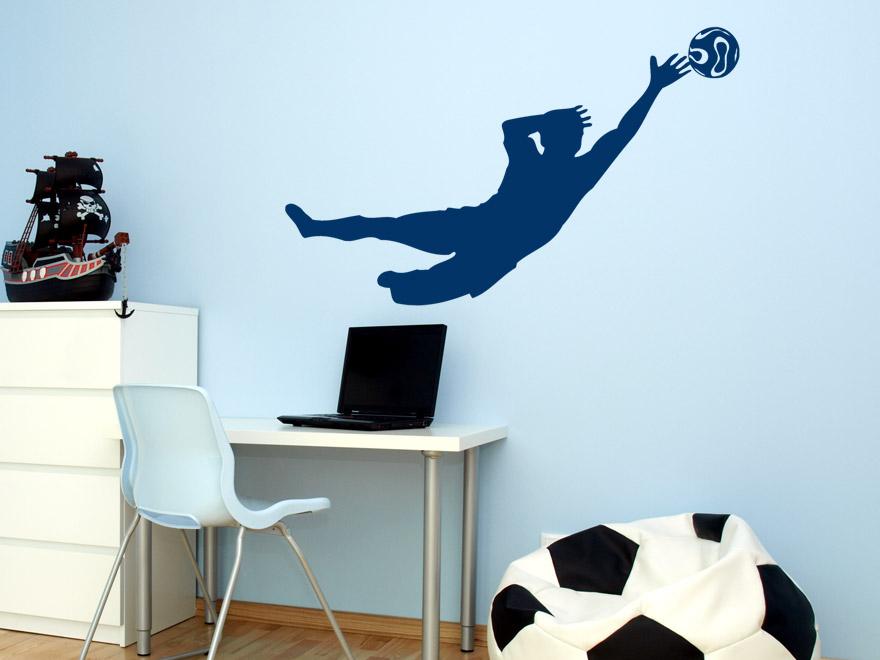fu ball wandtattoo torwart von. Black Bedroom Furniture Sets. Home Design Ideas